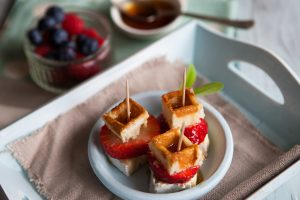 Fruity Brie & Maple Syrup Bites | Food Photography