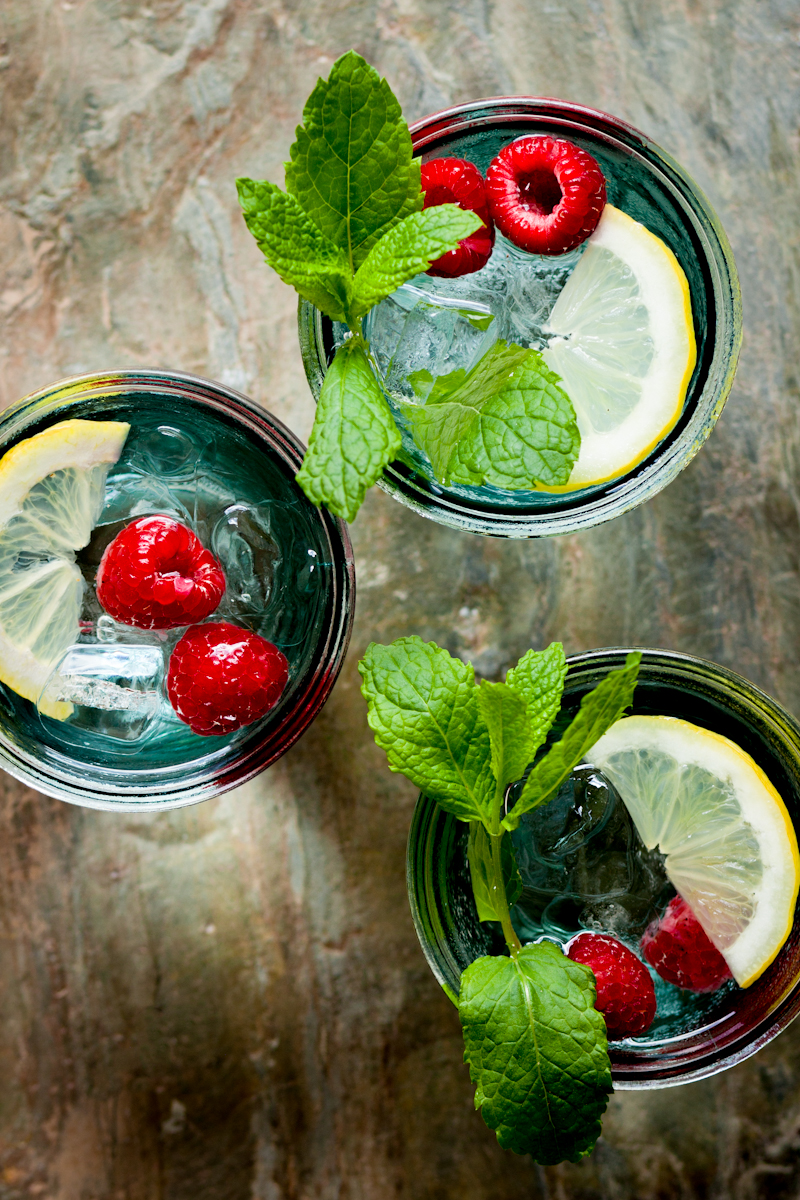 Refreshing fruity summer drinks