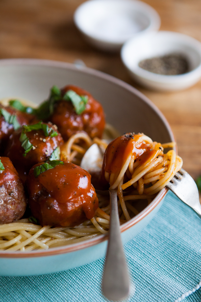 Meatballs with Italian tomato sauce