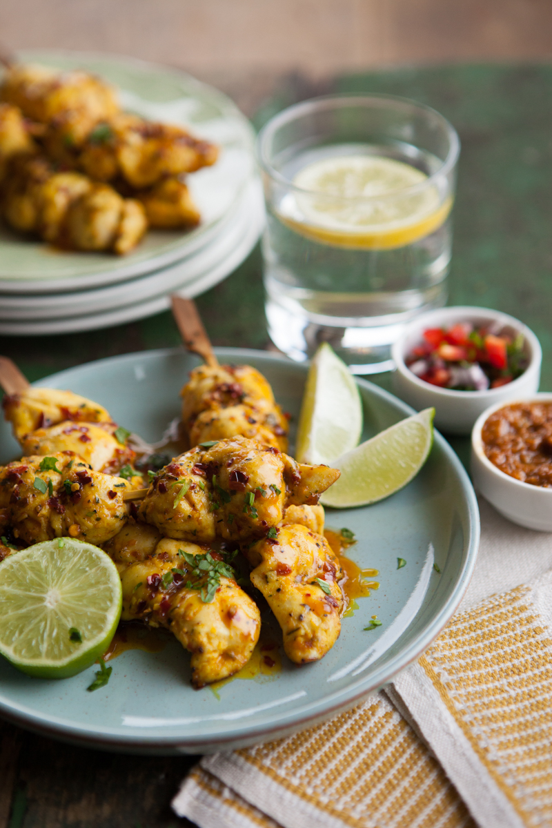 Chicken kebab with Bombay sauce