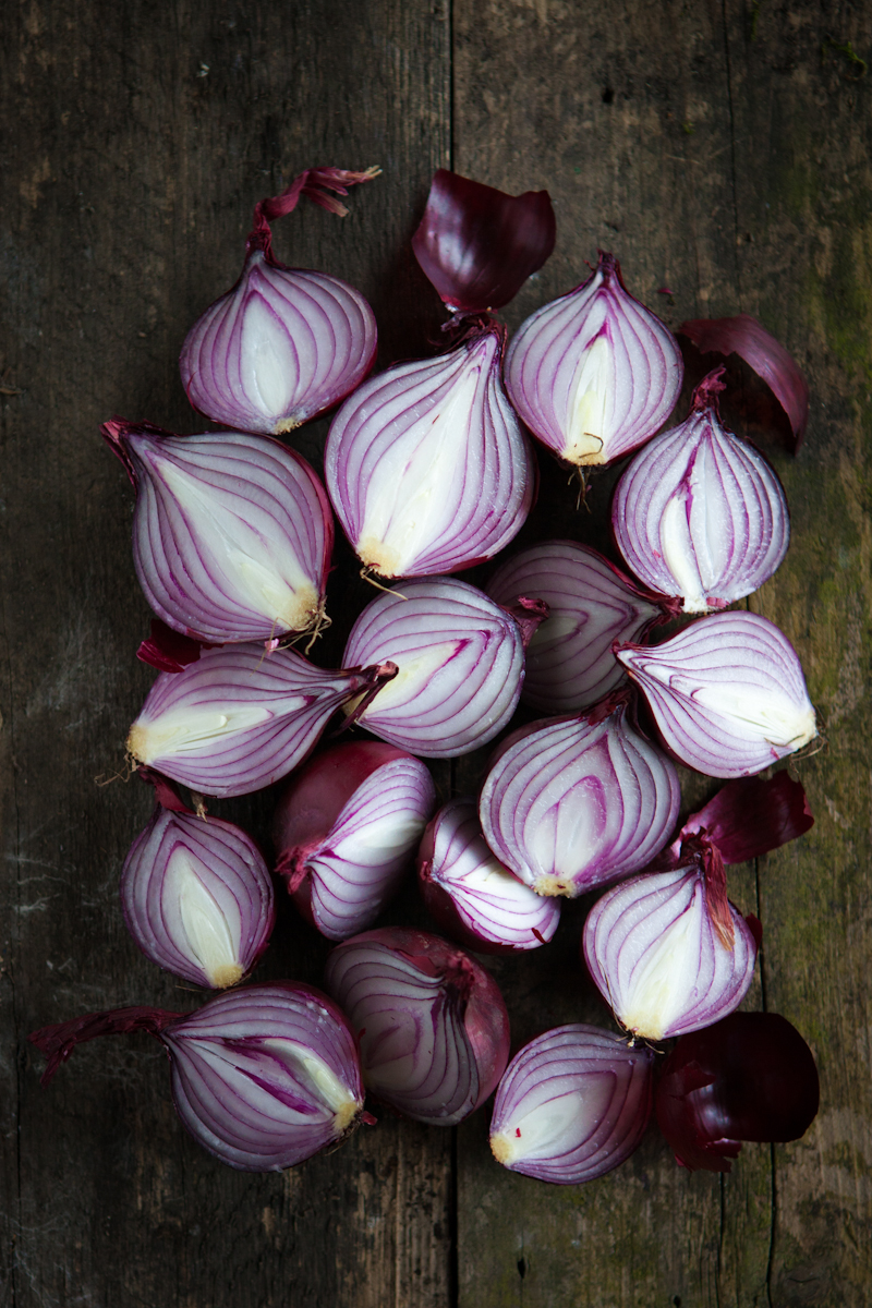 Red Onion Halves