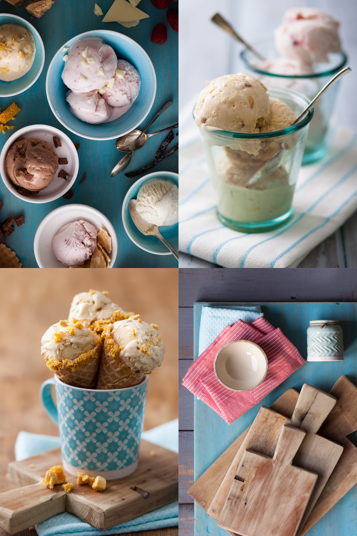 Ice Creams with Serving Suggestions